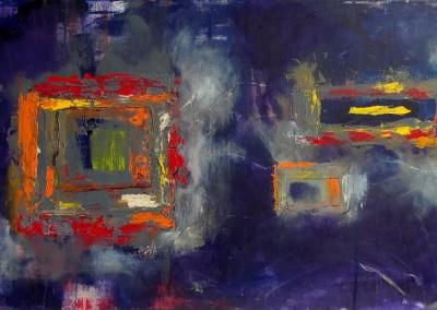 Allmaehliche Aufloesung - Oel auf Leinwand, 50 x 100 cm, 2013