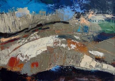 Schichtungen - Oel auf Leinwand, 30 x 40 cm, 2013