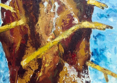 Weide 1: Abwehr - Oel auf Leinwand, 50 x 60 cm, 2007