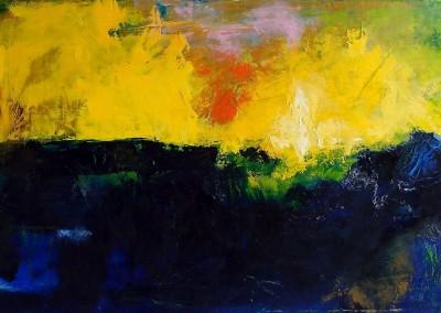 Ueber Nacht - Oel auf Leinwand, 50 x 100 cm, 2012