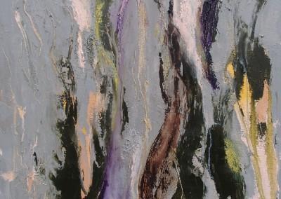 Leben auf Leben - Oel auf Leinwand, 100 x 70 cm, 2009