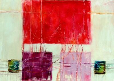 Beziehungen - Oel auf Leinwand, 100 x 100 cm, 2013