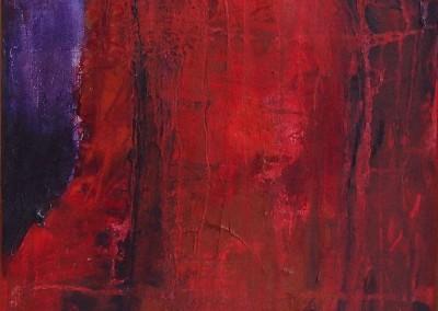 Ahorn 3: Abends - Oel auf Leinwand, 40 x 30 cm, 2007