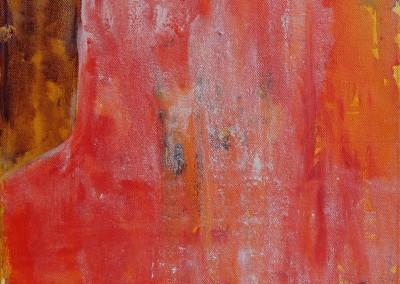 Ahorn 2: Daemmerung - Oel auf Holzkoerper,  30 x 30 cm, 2007