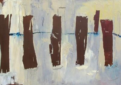 Buhnen I - Oel auf Leinwand, 50 x 100 cm, 2009
