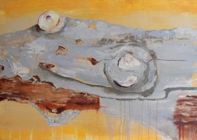 Buche 1: Das Alter - Oel auf Leinwand, 70 x 100 cm, 2008