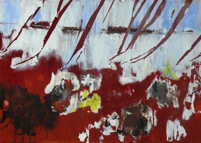 Schneefelsen - Oel auf Leinwand, 70 x 100 cm, 2011