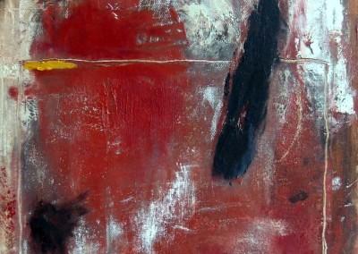 Ausbruch - Oel auf Leinwand, 40 x 40 cm, 2013