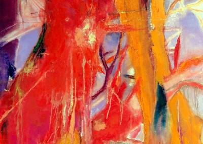 Verzweigungen - Oel auf Leinwand, 70 x 100 cm, 2014
