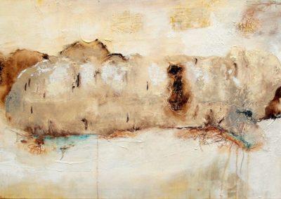 Erinnerung an eine Birke - Oel auf Leinwand, 70 x 140 cm, 2012