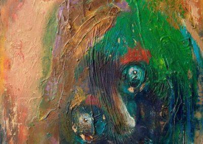 In Gedanken - Oel auf Hartfaser, 60 x 50 cm, 2013