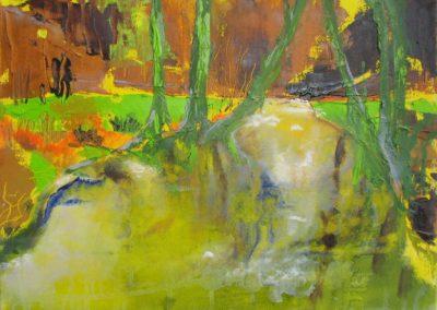 Fruehling - Oel auf Leinwand, 30 x 50 cm, 2009