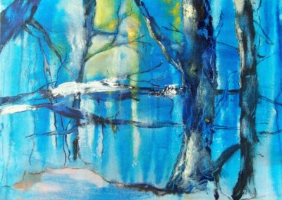 Winter - Oel auf Leinwand, 30 x 50 cm, 2009