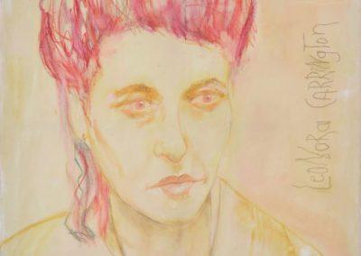 Leonora Carrington - Kreide auf Leinwand, 80 x 80 cm, 2014