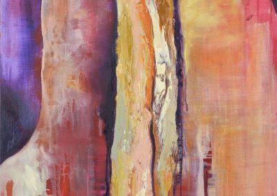 Ahorn 4: Glut - Oel auf Leinwand, 100 x 70 cm, 2007