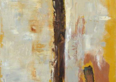 Ahorn 5: Annaeherung - Oel auf Leinwand, 100 x 70 cm, 2007