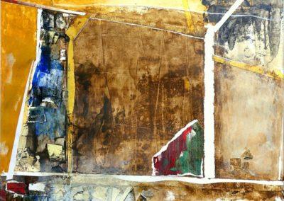 Asphalt IV - Tusche u. Mischtechnik auf Bristol, 50 x 60 cm, i.R.